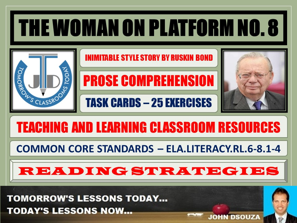THE WOMAN ON PLATFORM NO 8 - STORY COMPREHENSION - TASKS AND EXERCISES