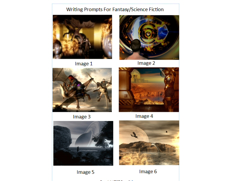 Visual Prompts for Creative Writing - Fantasy/Science Fiction (Australian Curriculum)