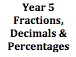 Fractions, Decimals & Percentages Year 5