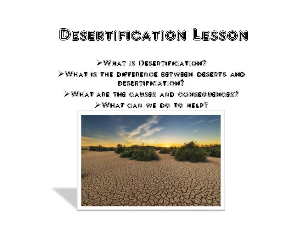 Desertification Lesson