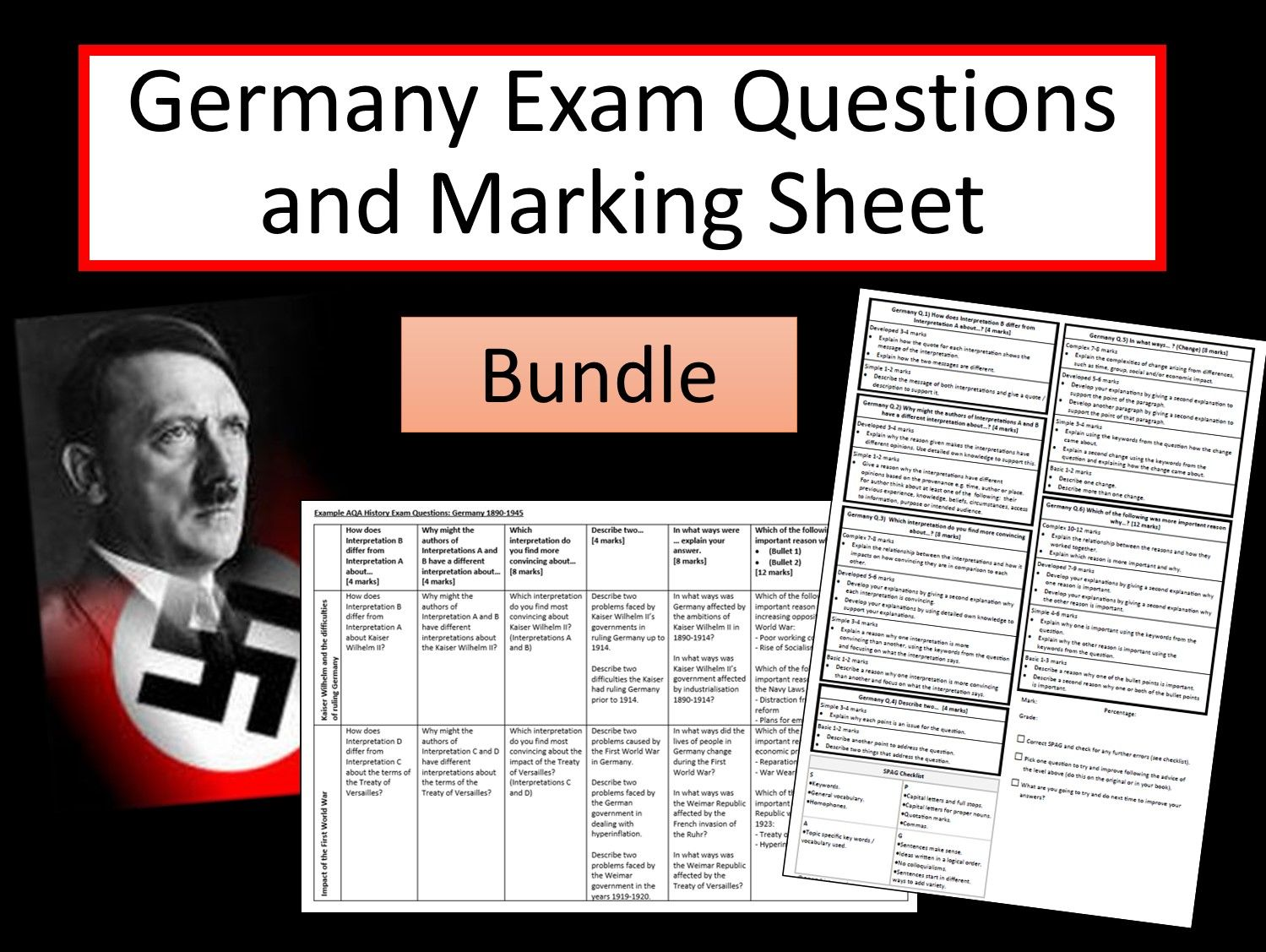 Germany Exam Questions Bundle AQA 9-1