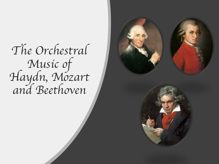 AQA GCSE Music Component 1 AoS 1 Orchestral Music of Haydn, Mozart and Beethoven