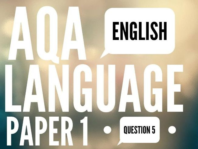 English Language Paper 1 Section B Questions
