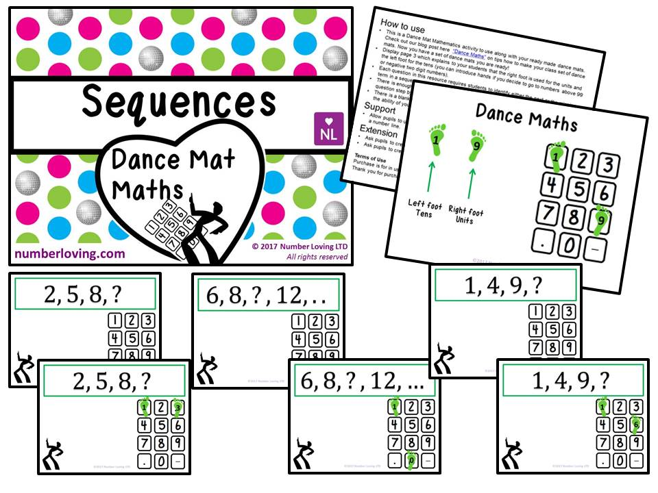 Sequences (Dance Mat Math)