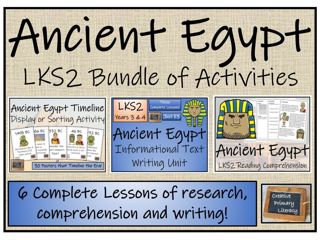 LKS2 Ancient Egypt - Display, Research, Reading Comprehension & Writing Bundle