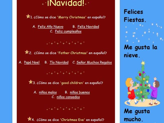 Spanish Christmas Quiz