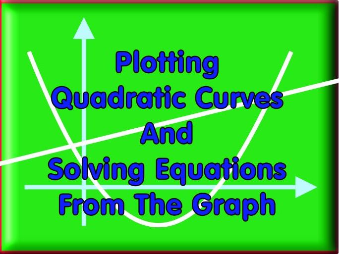 Plotting Quadratics And Solving Equations For Higher Level + Answers