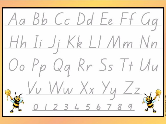 New Zealand Alphabet Cards - Handwriting Letter Formation