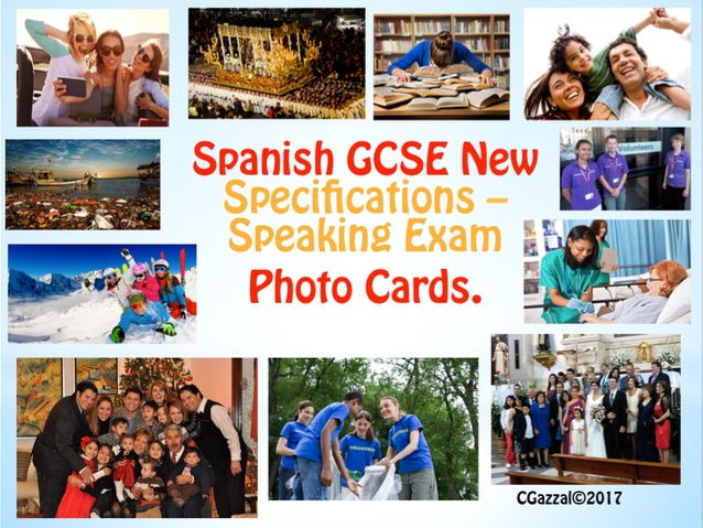 Spanish GCSE New Specifications - Speaking Exam Photo Cards.