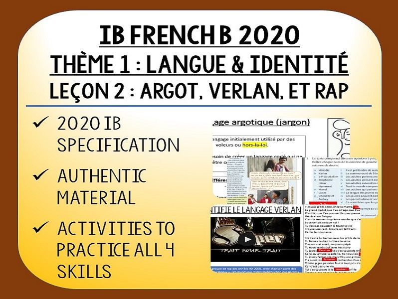 IB FRENCH B 2020 - Langue & Identité - L2