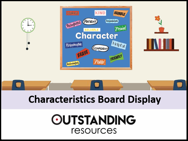 Door and Board Decoration Set - Characteristics (Classroom Display)