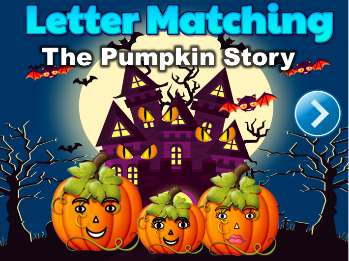 Letter Matching Uppercase and Lowercase - The Pumpkin Story