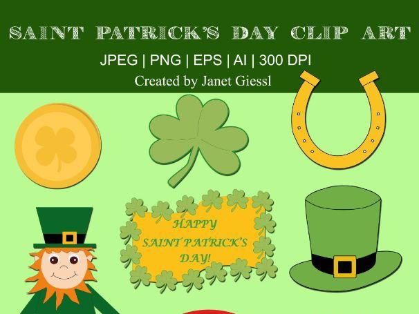 Saint Patrick's Day Clip Art - Set of 8