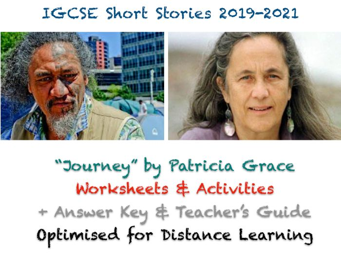 """IGCSE Short Stories: """"Journey"""" by Patricia Grace (Story, Worksheets, Exam Prep + ANSWERS)"""