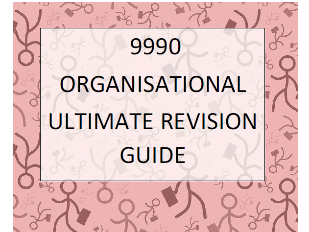 9990 CIE A2 Organisational Psych Booklet