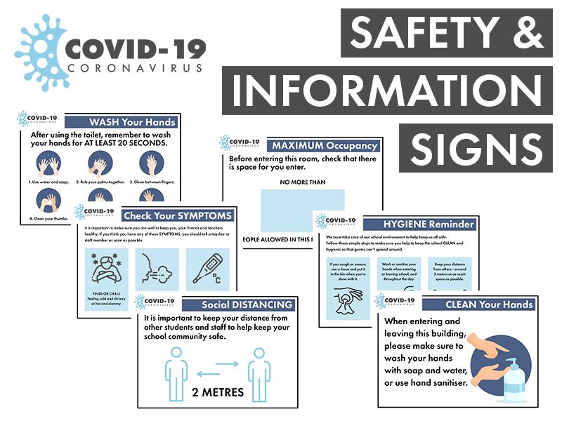 COVID-19 Coronavius Safety & Info Posters