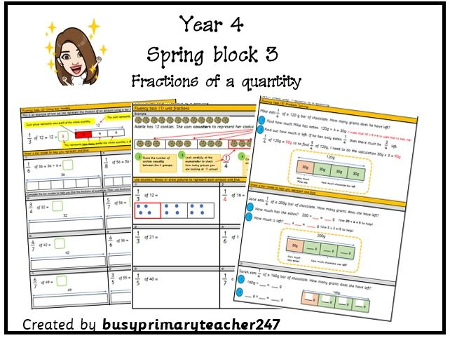 Year 4 – Calculate Fractions of a Quantity – Spring Block 3 - Fractions