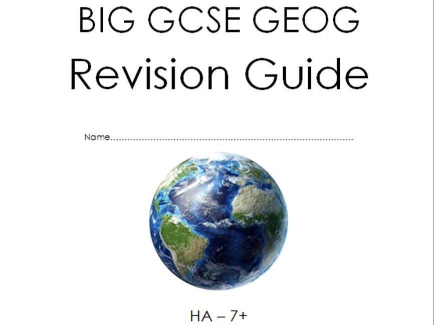Revision Pack: GCSE Geography - AQA New Spec (2018+)