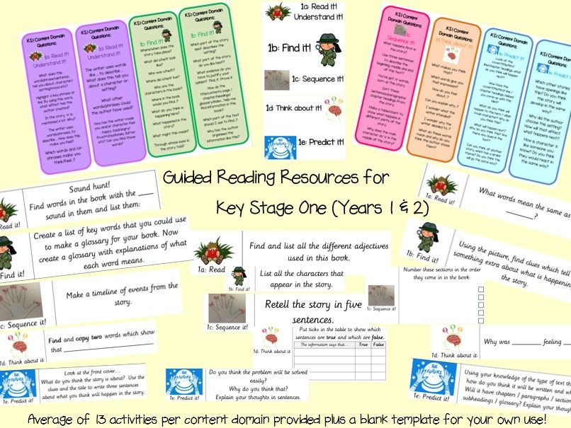 guided reading key stage one resources  2014 curriculum