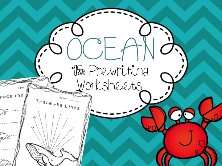 Ocean Themed Prewriting Worksheets