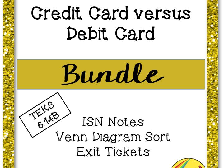 Credit Card versus Debit Card Bundle