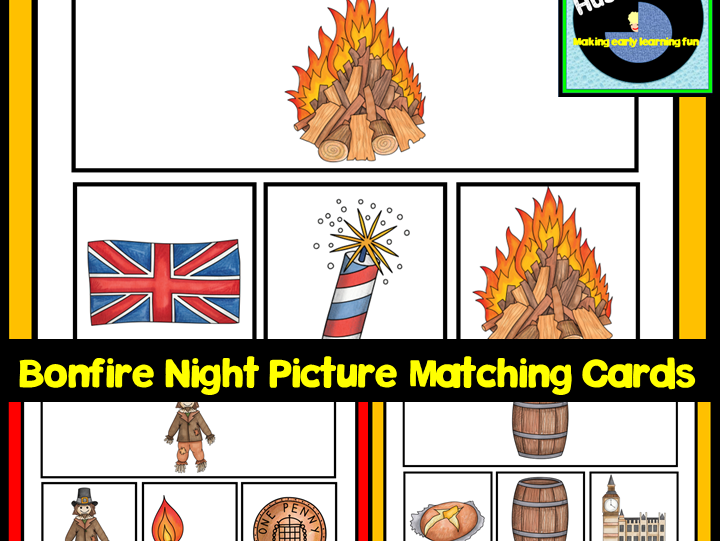 Bonfire Night Picture Matching Cards