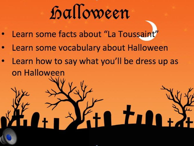 French Halloween La Toussaint Activity Pack (15 files! 45 slides ppt! Fun activities and video!)