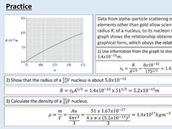 A level Physics (26.9)  Nuclear radius  (Radioactivity)