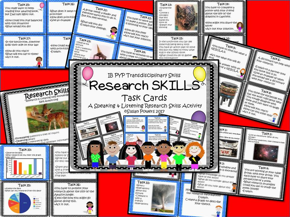 Developing Research Skills with Task Cards Activity