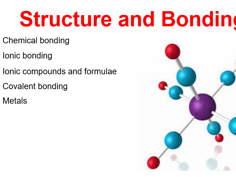 Structure and Bonding GCSE Chemistry