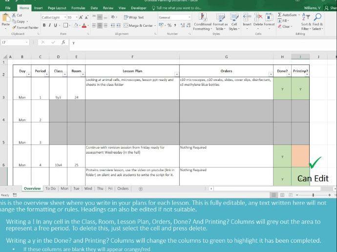 Ultimate Teacher Planner Organiser Diary Digital Online