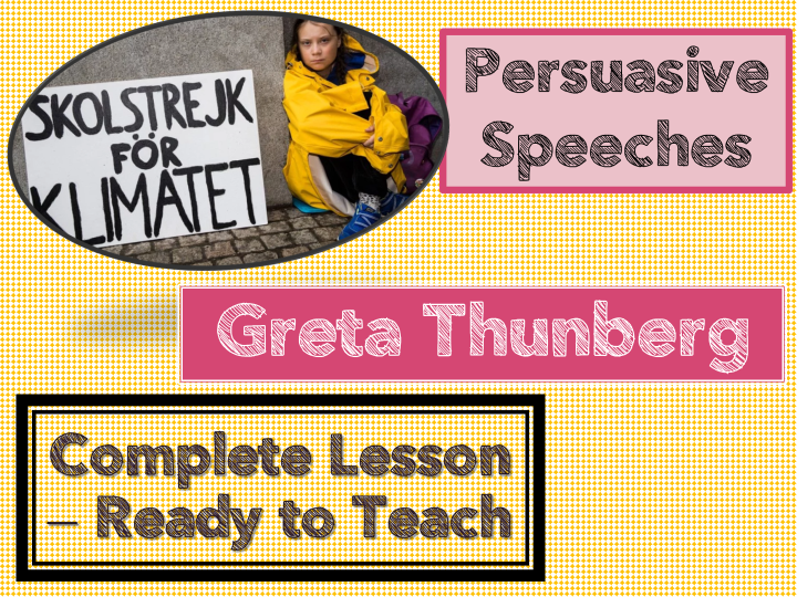 CLIMATE CHANGE -GRETA THUNBERG-  SPEECH ANALYSIS