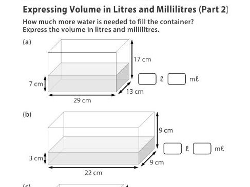 Expressing Volume in Litres and Millilitres (Part 2)