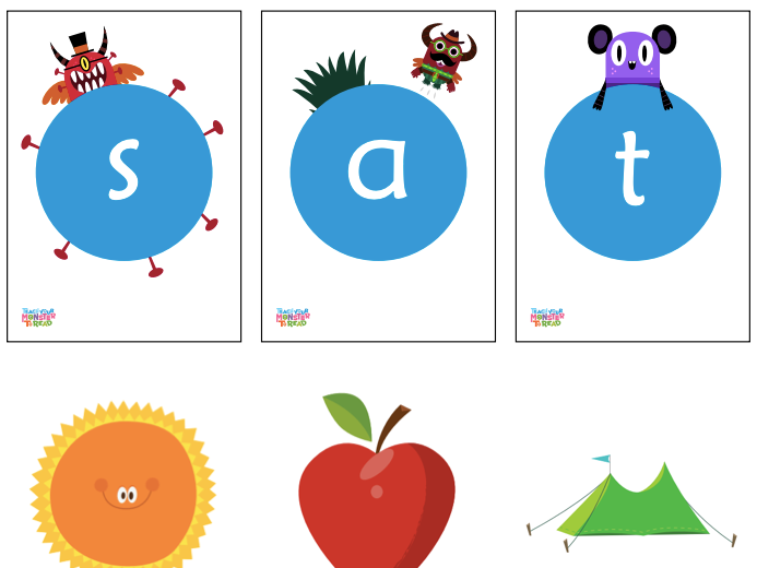 Printable phonics flashcards - Teach Your Monster to Read