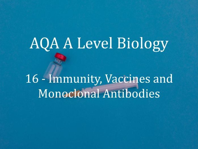 AQA A Level Biology Lecture 16 - Immunity, Vaccines and Monoclonal Antibodies