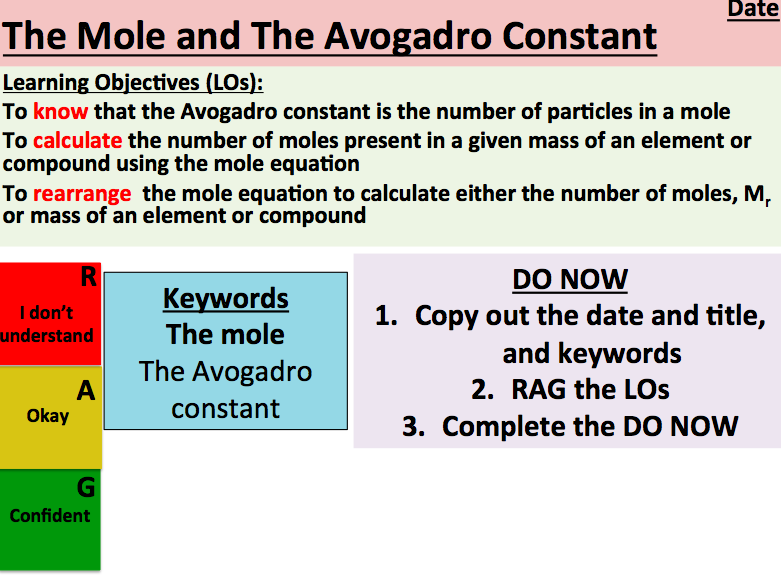 KS5 Chemistry: The Mole and The Avogadro Constant (AS Level)