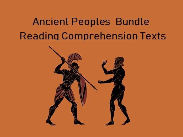 Ancient Peoples Bundle - Reading Comprehension Worksheets - Texts (SAVE 55%)