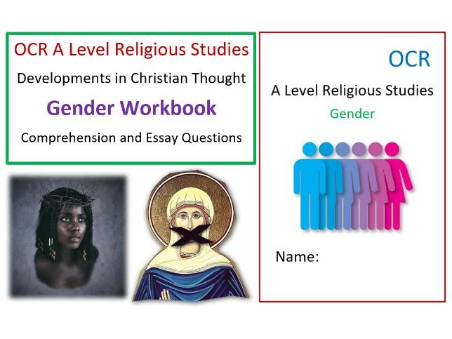 OCR Developments in Christianity: Gender Workbook