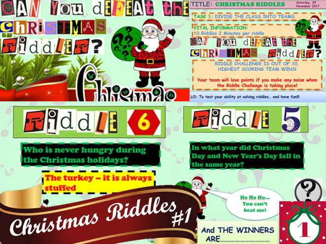 CHRISTMAS RIDDLES #1 GREAT FUN!!!