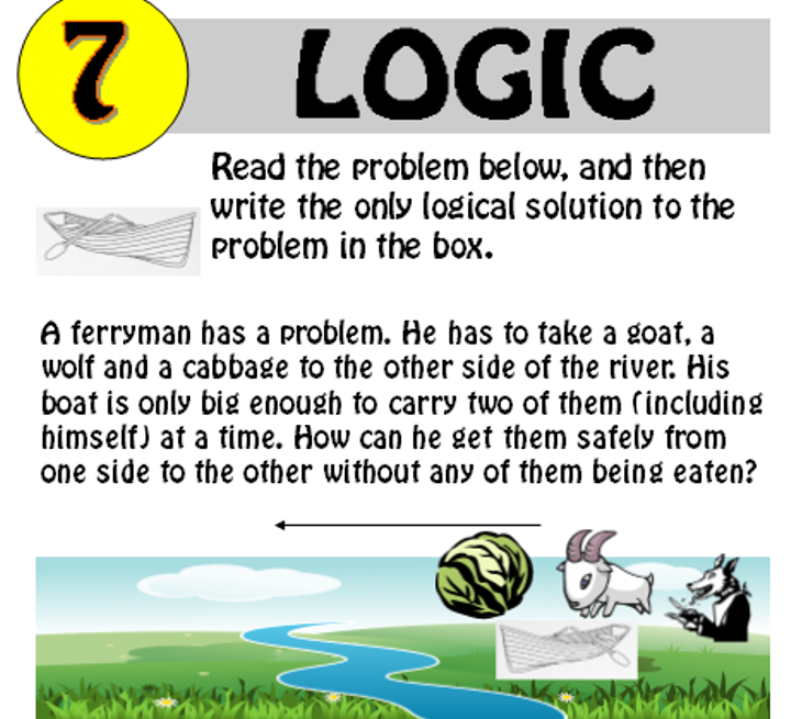 Logic Puzzle 7 (with solution)