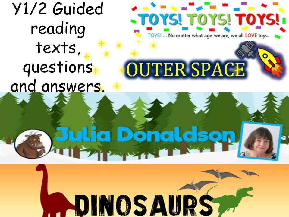 year 1/2 guided reading bundle