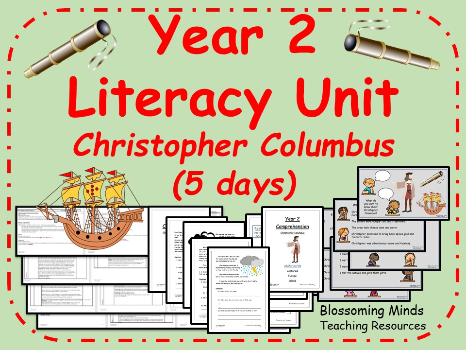 Year 2 Literacy Unit - Christopher Columbus (explorer) - 5 Lessons