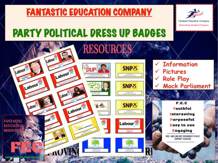 Party Politics 2017 Election badges