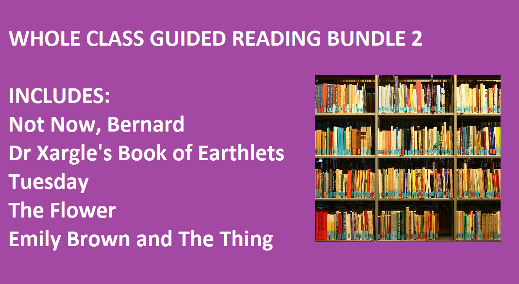 Whole Class Guided Reading Sequence Activities Bundle 2