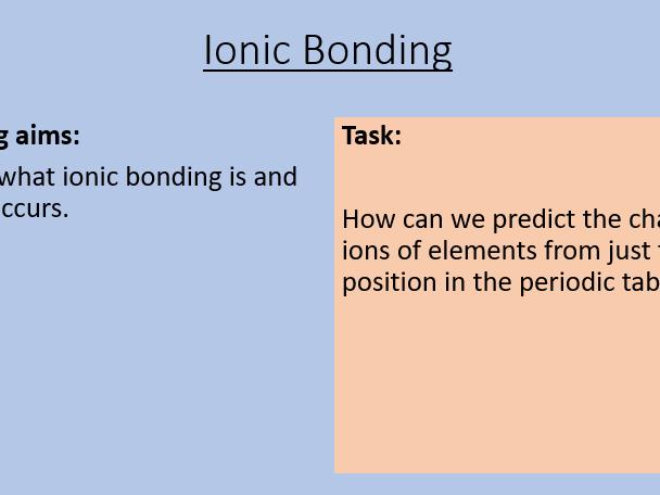 AQA C3.3 Ionic Bonding