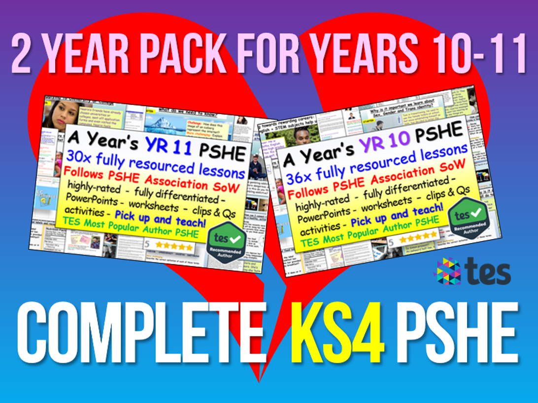 KS4 PSHE RSE Complete Curriculum + Planning