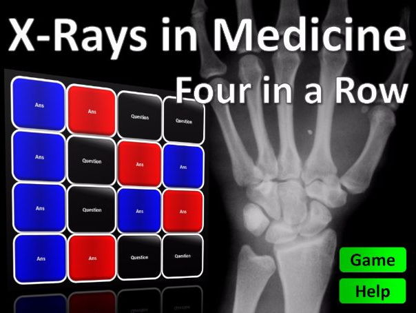 Four in a Row Interactive Quiz Game: X-Ray Medicine