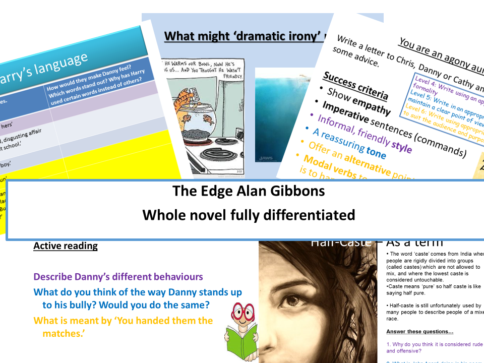 The Edge Alan Gibbons Whole novel fullly differentiated