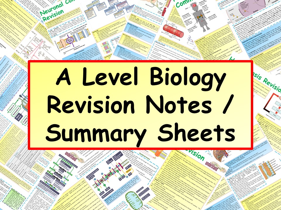 OCR A Level Biology A2 Revision Notes / Summary Sheets