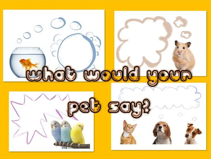 Pet Writing - Speech Bubbles - What Would Your Pet Say?